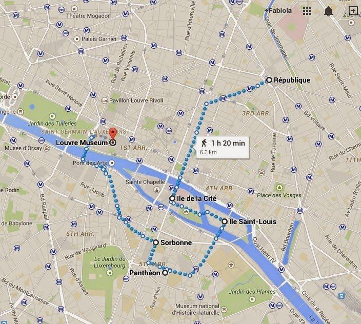 parigi itinerario