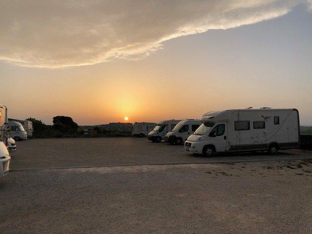aree sosta camper a Matera