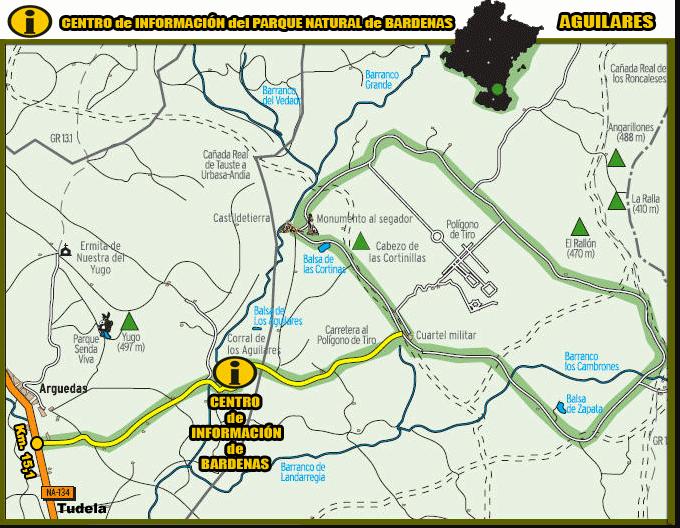 mappa bardenas reales